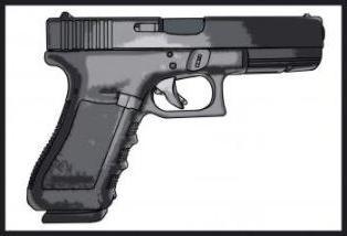 как нарисовать пистолет