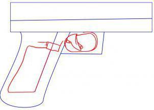 как нарисовать пистолет карандашом поэтапно