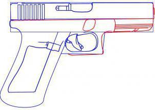 как нарисовать пистолет карандашом