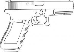 как нарисовать пистолет поэтапно