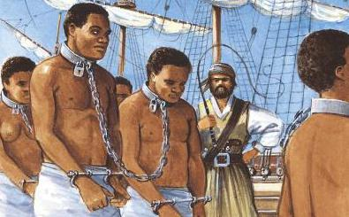 Рабы в кандалах