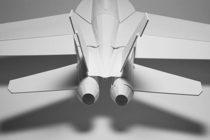 Объемный самолет из бумаги своими руками