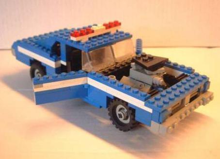 как сделать лего полицейскую машину