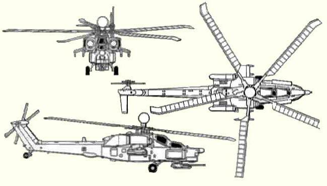 боевой вертолет ми 28н