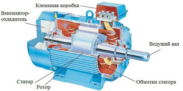 Схема включения трехфазного двигателя в однофазную сеть