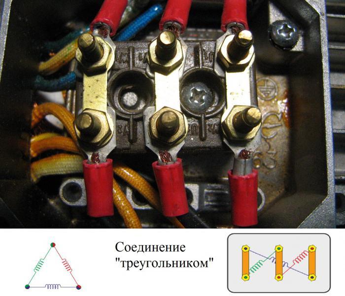 Схема запуска трехфазного двигателя в однофазной сети