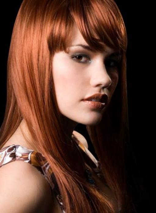 медный цвет волос рыжий оттенок фото