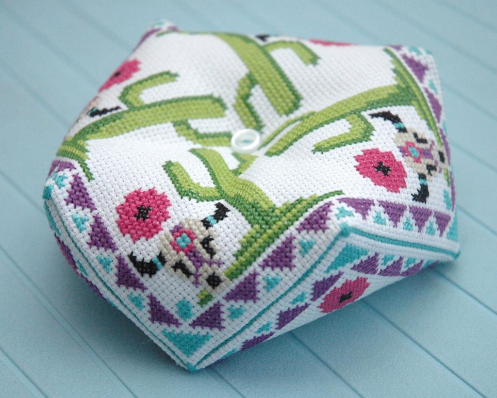 Образец схемы вязания косой