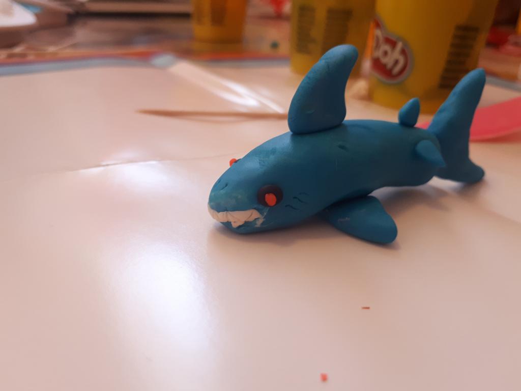 как слепить акулу из пластилина фото рошан свежие