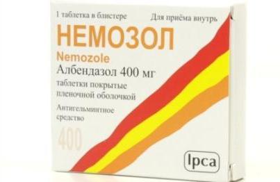 немозол от гельминтов