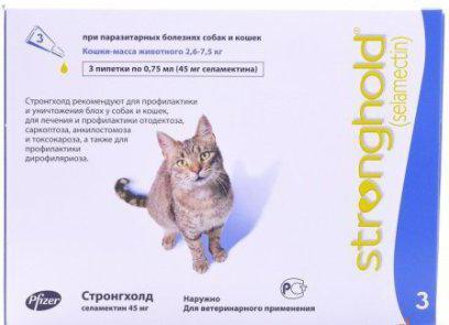 капли от глистов у кошек