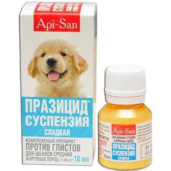 суспензия от глистов для собак празител цена