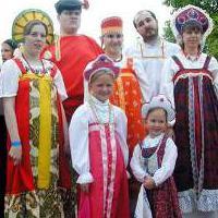 народный костюм россии рисунок