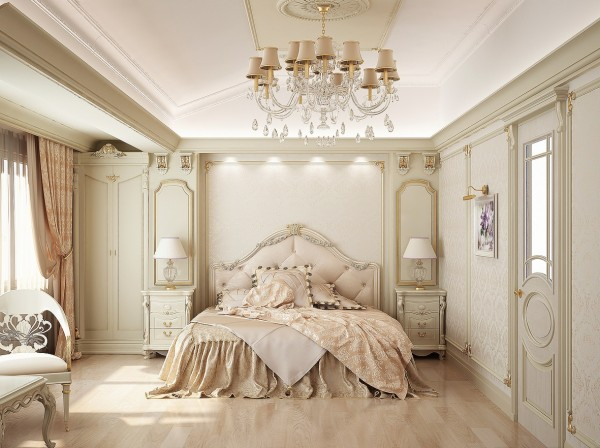 Classic bedroom ceiling