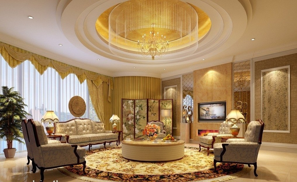 Classic ceiling in the interior