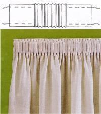 Пришив ленты к тюли своими руками