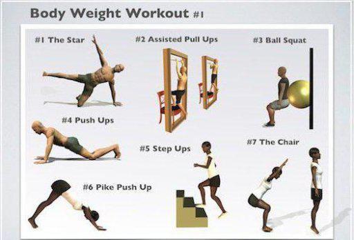 упражнение с собственным весом
