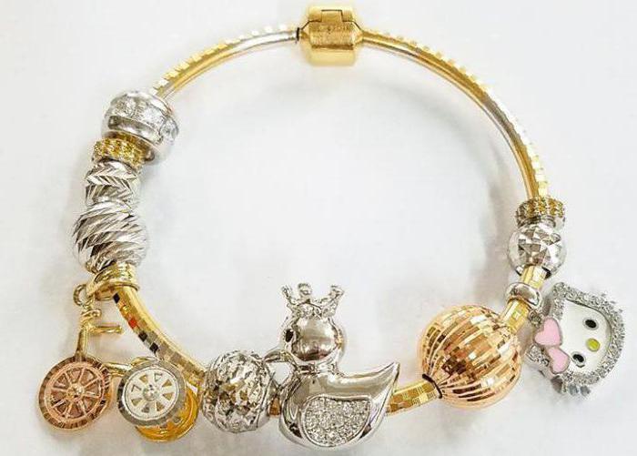 браслеты в стиле пандора