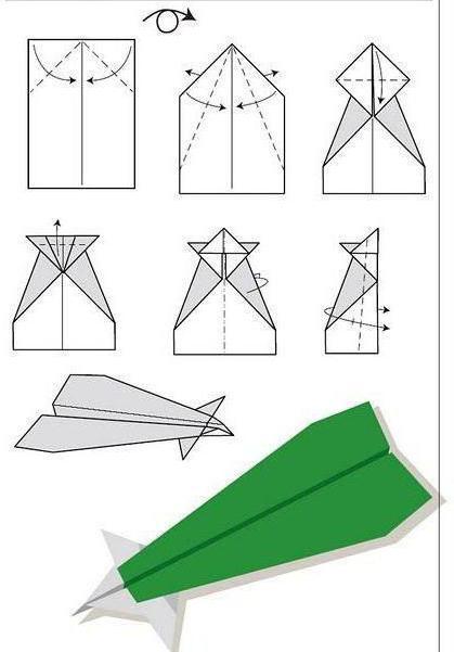самолетики из бумаги которые летают долго схема