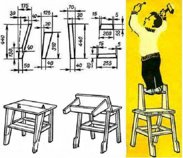 Простой стул стремянка своими руками