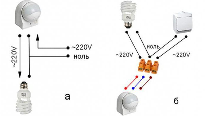 подключение светильника к сети