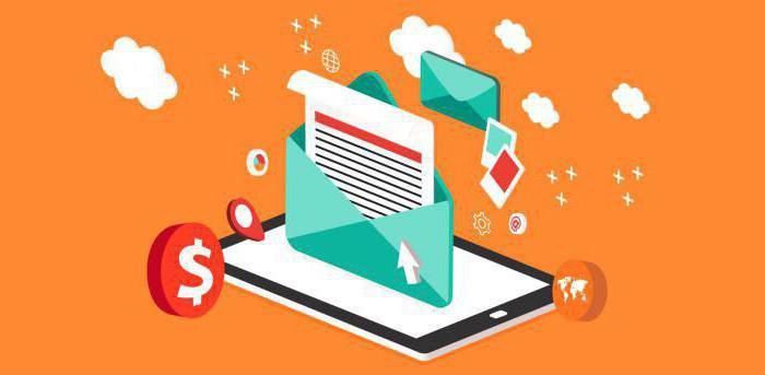 перечислите компоненты электронного письма