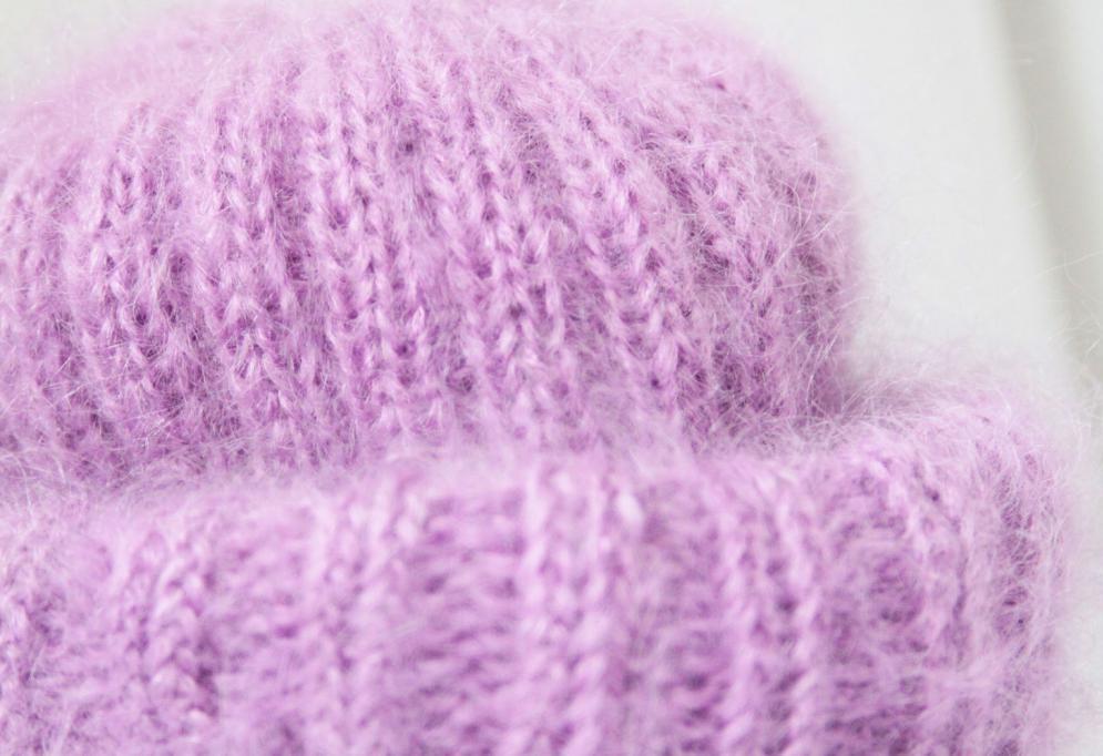 шапка мохеровая с резинкой 2 х 2