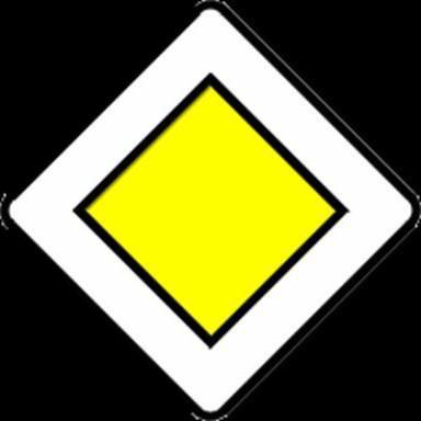 остановка перед знаком главная дорога