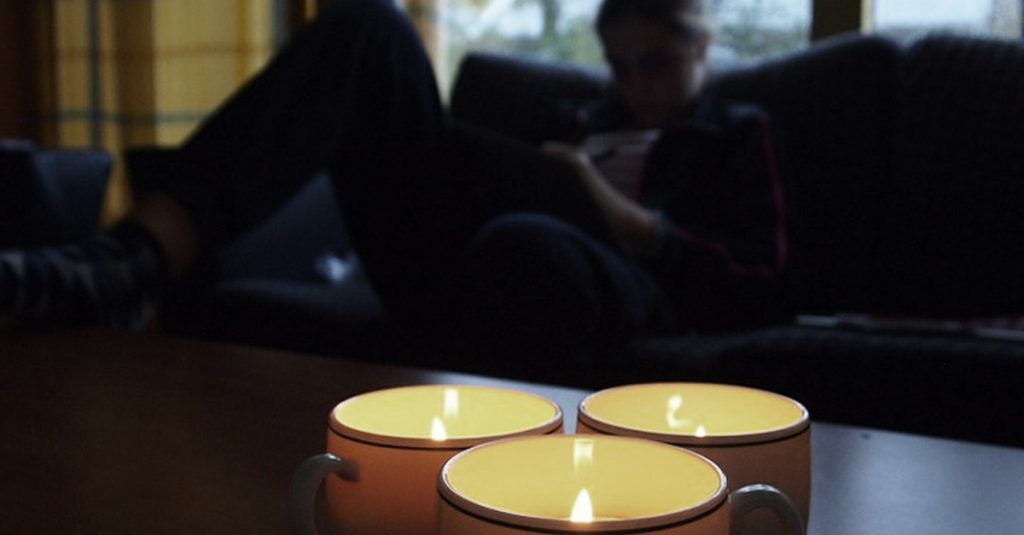 Clean the apartment with a candle