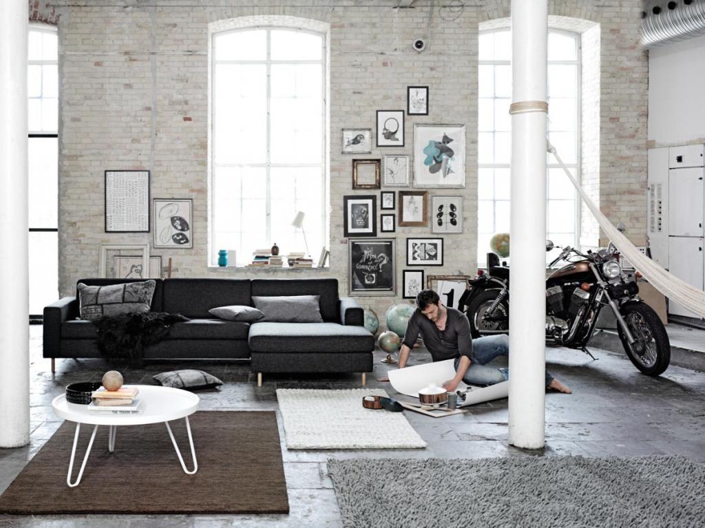 Индустриальный стиль в интерьере: описание с фото, модные идеи, планирование и примеры
