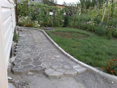Форма для садовой дорожки своими руками фото