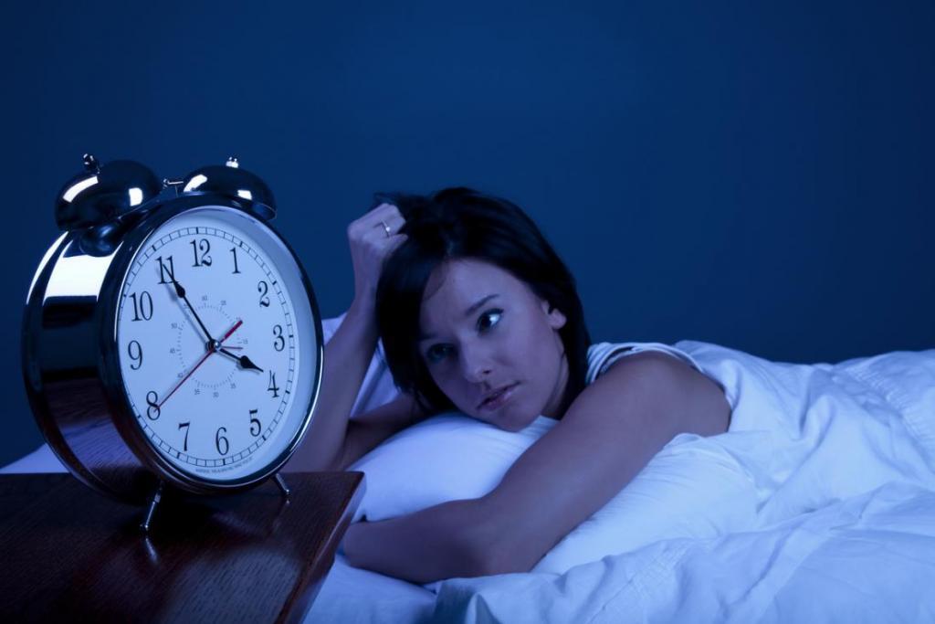 alarm clock and girl