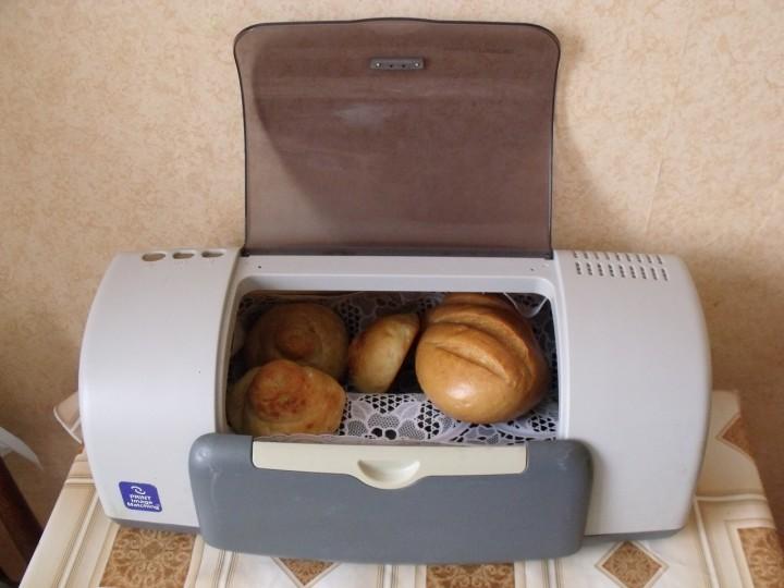 Хлебница из старого принтера