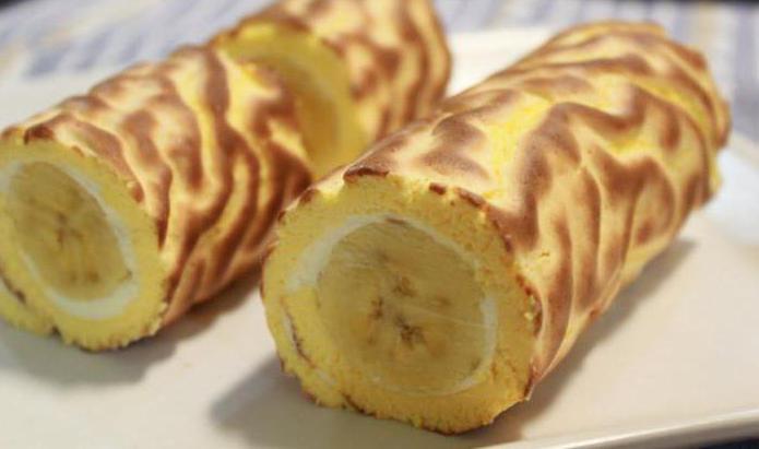 Как приготовить рулет с бананом: лучшие рецепты