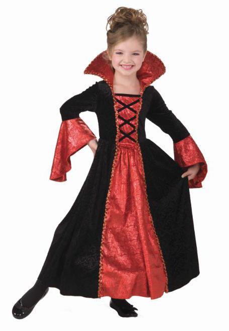 костюм вампира для девочки