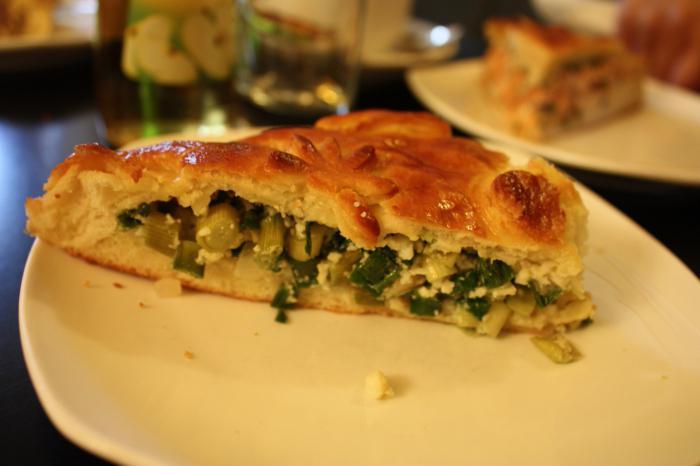 пирог с луком в духовке рецепт с фото