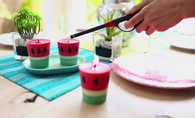 Candle watermelon