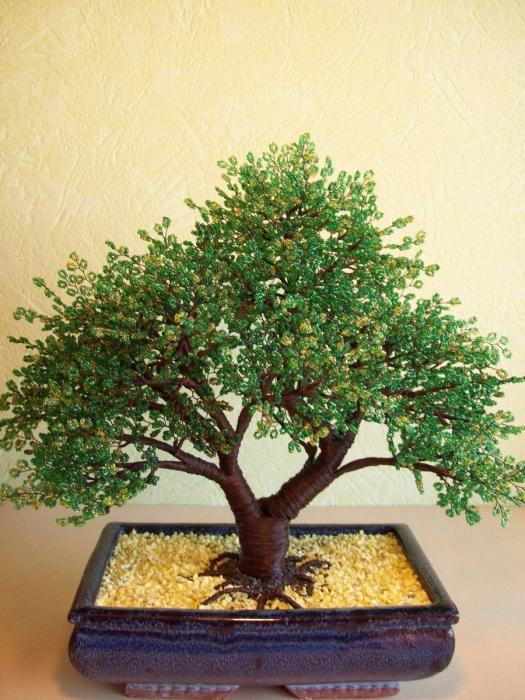 Деревья из бисера своими руками денежное