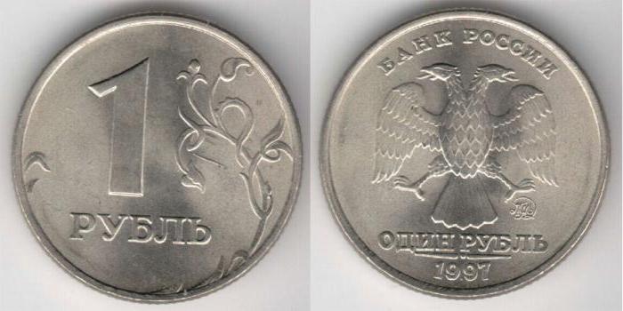 Сколько стоит 1 рубль 1997 года? Разные цены одной монеты