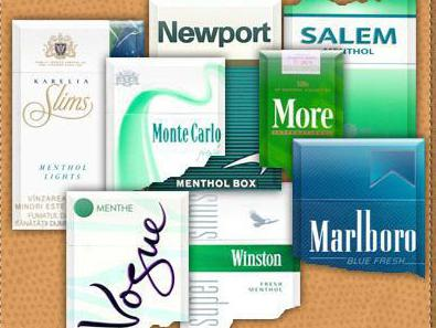 ментоловые сигареты марки
