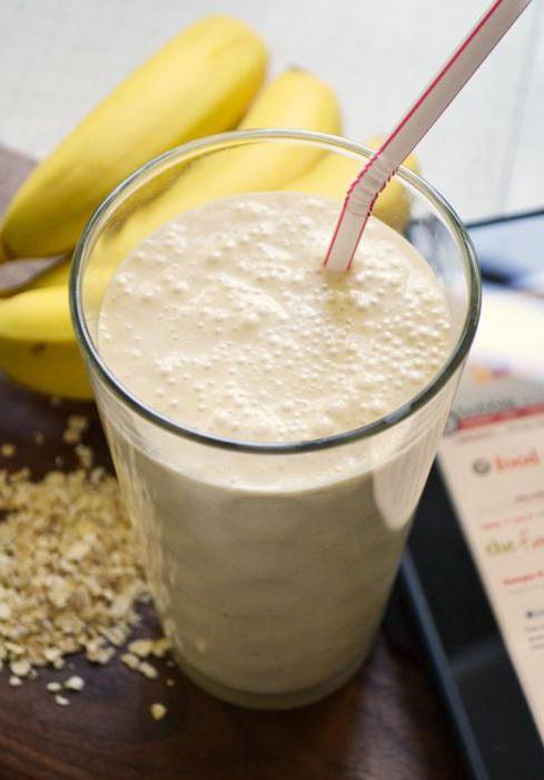 Рецепт смузи овсянка банан
