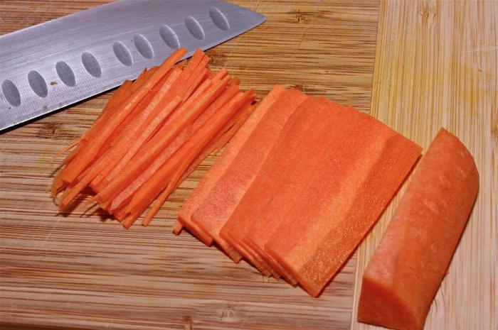 Как нарезать морковь соломкой