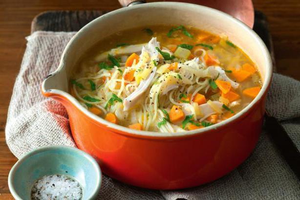 Рецепт супа с вермишелью и сыром