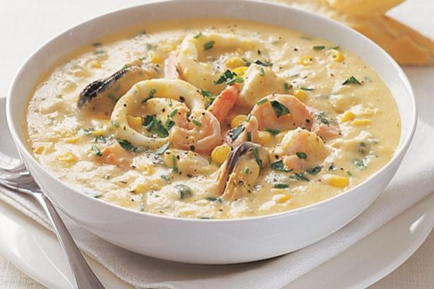 суп с морепродуктами рецепт с фото морской коктейль