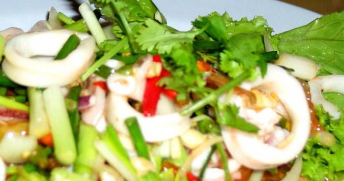 салат с кальмарами пошагово