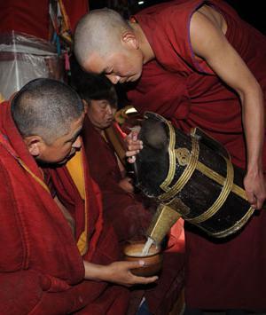 тибетский чай пурпурный