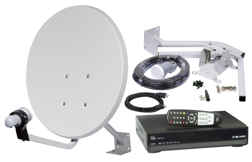 Satellite tv set