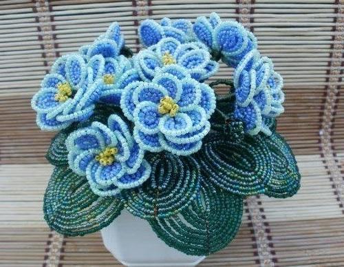 Цветы из бисера для начинающих мастер классы пошаговое