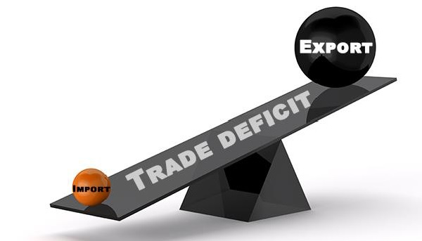 Negative trade balance