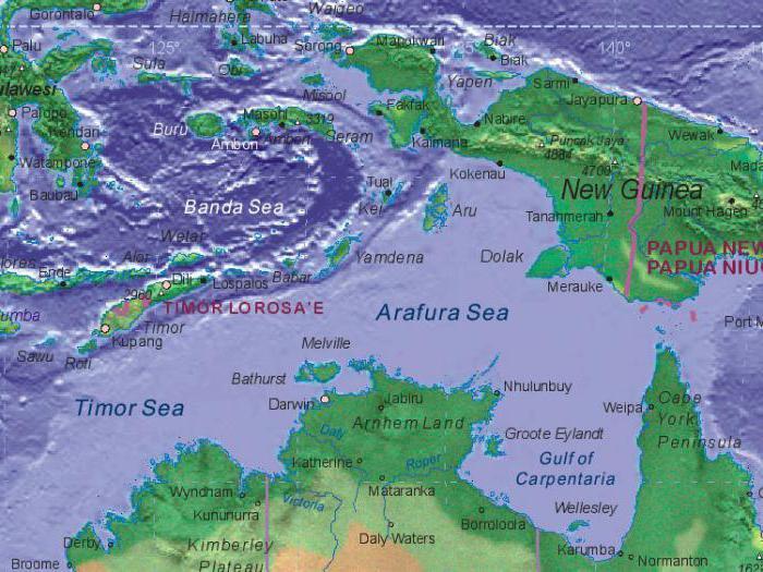 Арафурское и Тиморское море